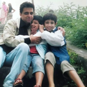 CarryMinati Childhood photo with father